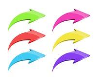 Set of arrows Stock Photos