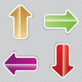 Set of arrows . Stock Image