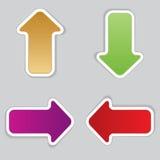 Set of arrows . Stock Photo
