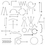 Set of arrows vector illustration. Royalty Free Stock Photo