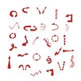 Set of arrows. Vector illustration. EPS 8 Royalty Free Stock Photo