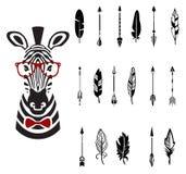 Set of arrows, vector illustration Royalty Free Stock Photos