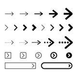 Set of arrows vector illustration Stock Image