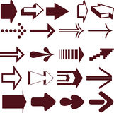 Set of arrows. Vector illustration of arrows on white Stock Images