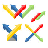 Set of arrows. For the web site. vector format Stock Photography