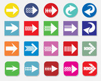 Set of Art Arrow icon vector Stock Image
