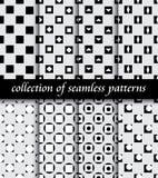 Set art deco bezszwowi wzory Eleganckie nowożytne tekstury abstrakcjonistyczni tła ilustracja wektor
