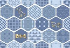 Set art deco bezszwowi wzory Eleganckie nowożytne tekstury abstrakcjonistyczni tła Zdjęcia Royalty Free