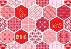 Set art deco bezszwowi wzory Eleganckie nowożytne tekstury abstrakcjonistyczni tła Fotografia Stock