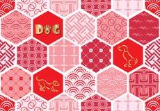 Set art deco bezszwowi wzory Eleganckie nowożytne tekstury abstrakcjonistyczni tła Obraz Royalty Free