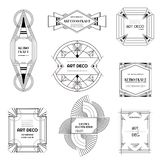 Set of Art deco borders and frames. Geometric template in 1920s Gatsby style for your design, wedding card, cover banner. Set of Art deco borders and frames vector illustration