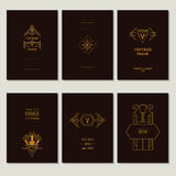 Set of Art Deco Cards Royalty Free Stock Image