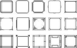 Set of art deco frames stock images