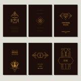 Set art deco karty Obraz Royalty Free