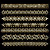 Set art deco ornamenty i wzory Kreatywnie kolekcja w stylu 1920s dla twój projekta Wiktoriański projektujący royalty ilustracja