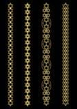 Set art deco pasek deseniuje i ornamenty Kreatywnie kolekcja w stylu 1920s dla twój projekta Wiktoriański projektujący ilustracji