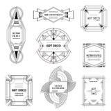 Set art deco ramy i granicy Geometryczny szablon w 1920s Gatsby stylu dla twój projekta, ślubna karta, okładkowy sztandar ilustracja wektor