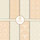 Set of art deco seamless patterns Royalty Free Stock Image