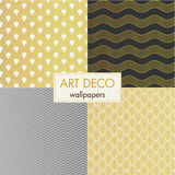 Set of art deco wallpapers Royalty Free Stock Photos