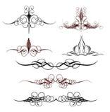 Set art elements of ornament. Vector illustration Stock Photos