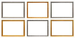 Set of art frames Royalty Free Stock Photos