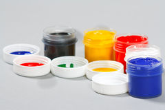 Set of art gouache paints Stock Photo