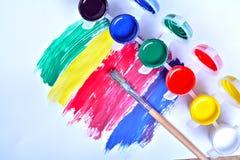 Set of art gouache paints Royalty Free Stock Image