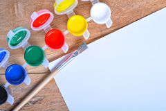 Set of art gouache paints Royalty Free Stock Photo