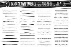 Set of art and pattern brushes Stock Photos