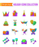 Set of art, theater, cinema and music flat icons compositions with scene, music instruments, painting and writing Royalty Free Stock Photography