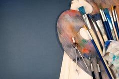 Set of art tools. Stock Photos