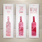 Set of art wine banners and labels Stock Photography