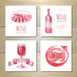 Set of art wine banners and labels Royalty Free Stock Image