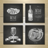 Set of art wine banners and labels design. Royalty Free Stock Photography