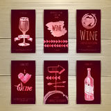 Set of art wine cards and labels Stock Photo