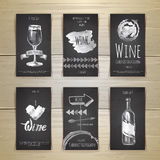 Set of art wine cards and labels design Stock Photography