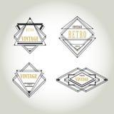Set of artdeco  Vintage Labels, Logo, Frames Stock Photos