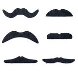 Set of artificial fake mustache Royalty Free Stock Photo