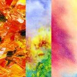 Set artistic backgrounds Royalty Free Stock Image