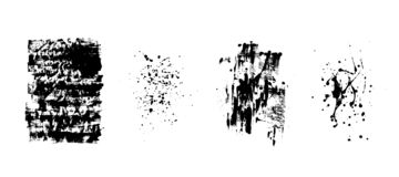 Set of artistic black grunge backgrounds. Vector texture. Dirty artistic design element. Brush stroke, splatter. vector illustration