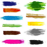 Set of artistic brush Stock Photography