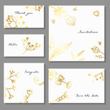 Set of artistic colorful universal cards. Brush textures. Set of artistic colorful universal cards. Vector illustration Stock Photo