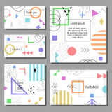 Set of artistic colorful universal cards. Wedding, anniversary, birthday, holiday, party. Set of artistic colorful universal cards with brush strokes and Stock Photography