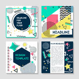 Set of artistic colorful universal cards. Wedding, anniversary, birthday, holiday, party. Design for poster, card. Set of artistic colorful universal cards Royalty Free Stock Photo