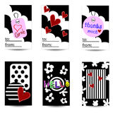Set of artistic creative universal cards. Stock Photography