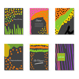 Set of artistic creative universal cards. Vector Stock Photography