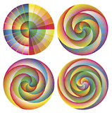 Set of artistic designed rosettes. Sacred ornaments, mandalas or art work of stained glass like in churches Royalty Free Stock Photos