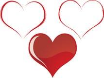 Set Artistic Hearts Stock Photo