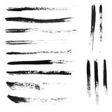 Set of 14 artistic mascara brush strokes Royalty Free Stock Images