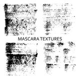 Set of 4 artistic mascara textures. Stock Image